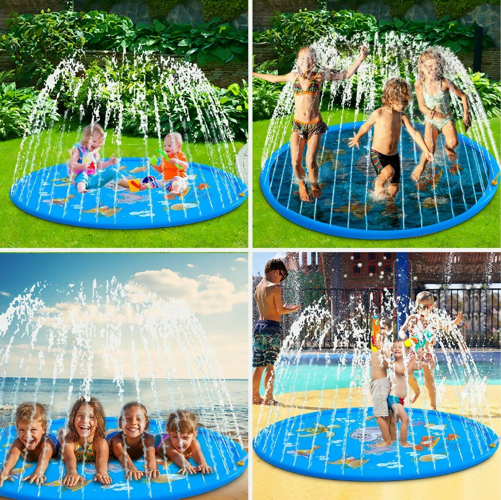 """Large, 68"""" Splash Play Mat, Inflatable Outside Water Toy, Sp"""