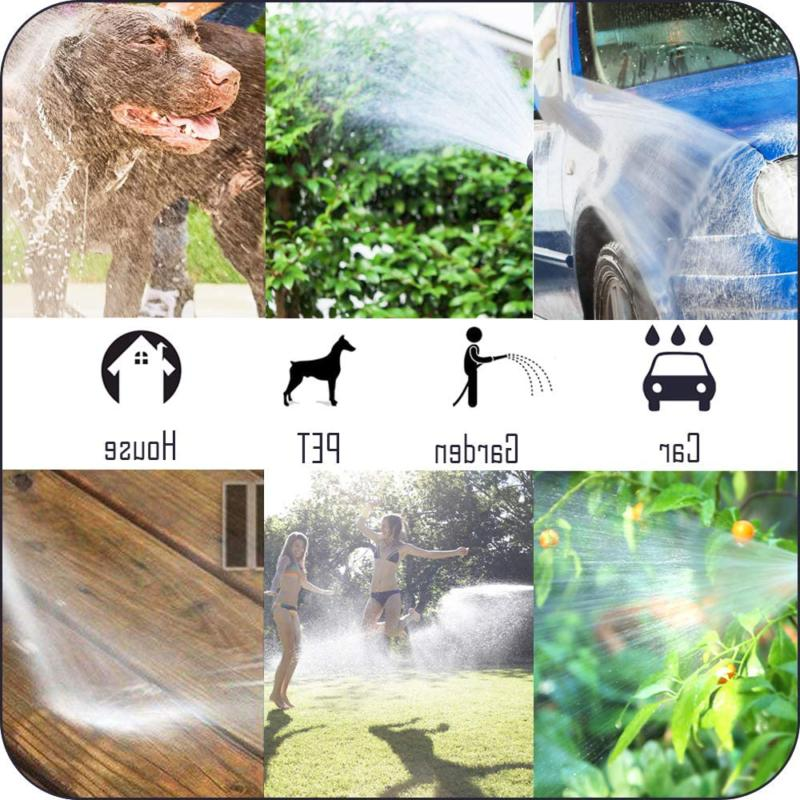 9 Way Duty Garden Hose Sprinkler Head Durable Metal Black