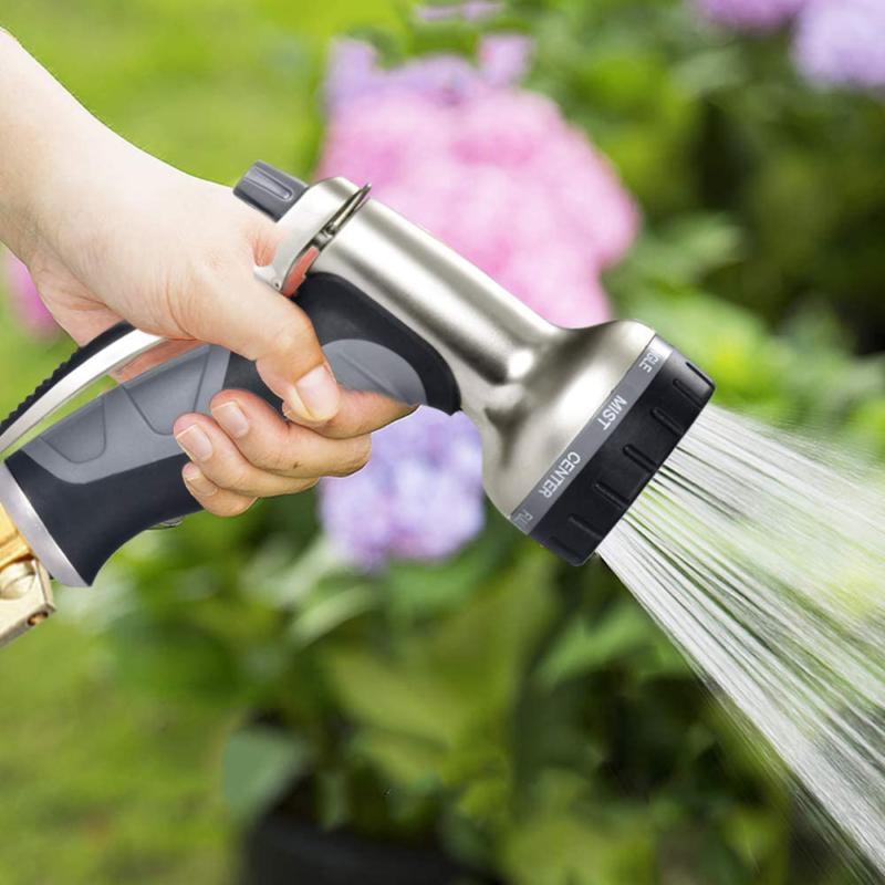 9 Way Duty Garden Hose Sprinkler Durable Black