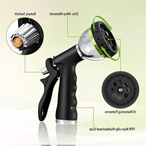 VicTsing Hose Heavy with 8 Patterns High and Shock Water Nozzle Plants and