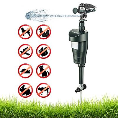 activated motion sensor water sprinkler animal repellent