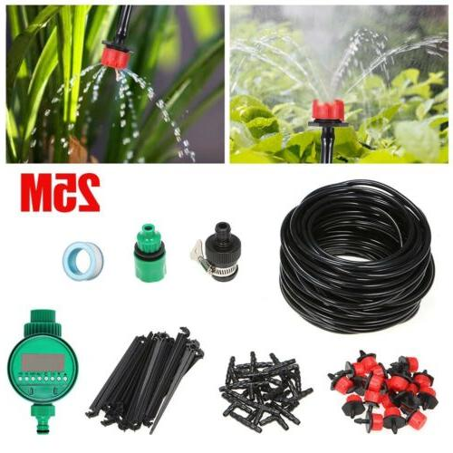 automatic irrigation system timer drip sprinklers garden