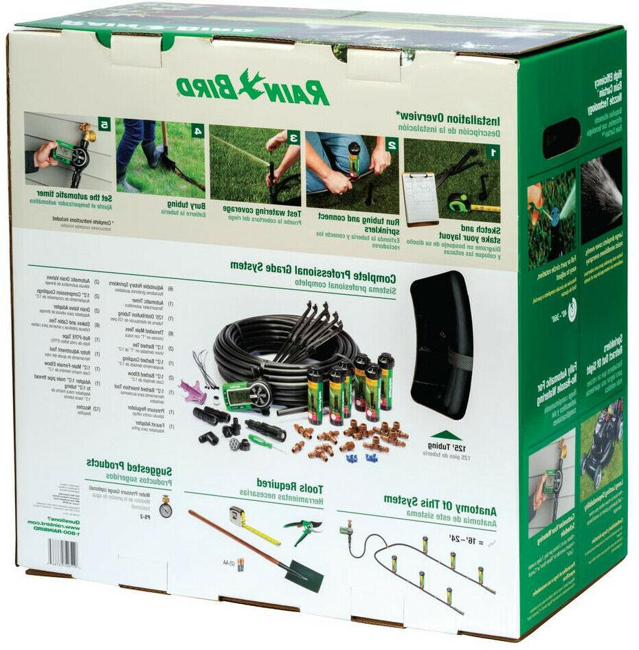 Rain Bird Yard Lawn Sprinkler System Kit Easy