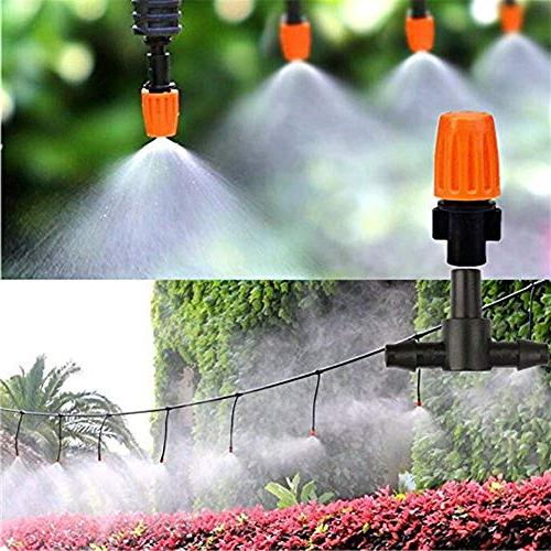 HANSILK DIY Automatic Micro Irrigation Kit Saving Water Time 1/4-inch Distribution Plant Hose 2 Sprinkler