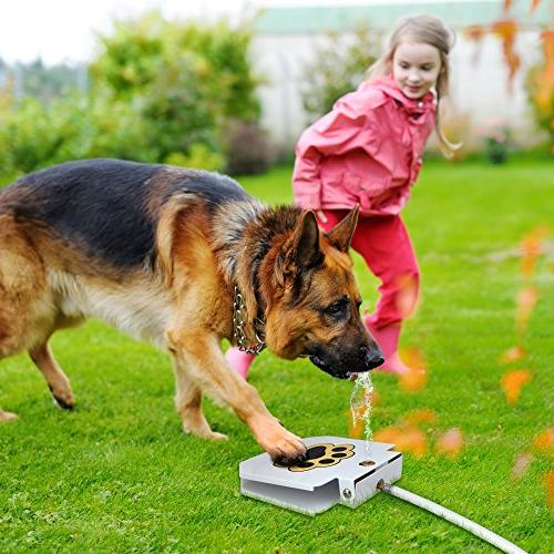 Trio Gato's Outdoor Pet Water Sprinkler Easy Activated