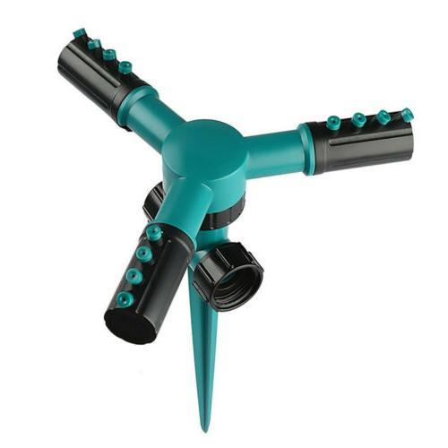 Garden Sprinkler 3 Arms 360 Watering Spray System