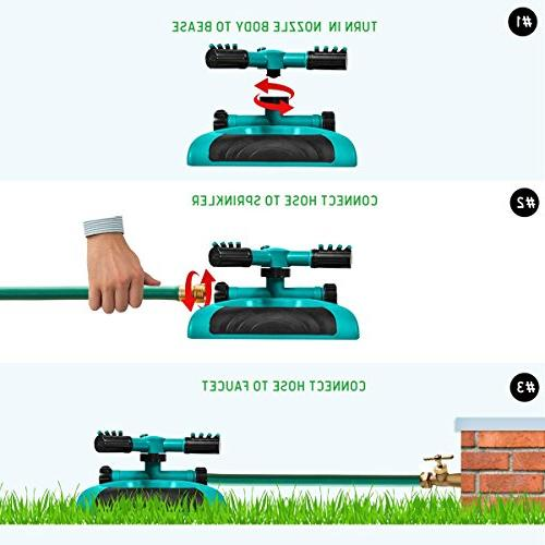 GrowGreen Degree Rotating Lawn with a Large Gardening System