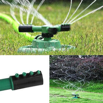 garden sprinkler spray 360 rotating impulse lawn