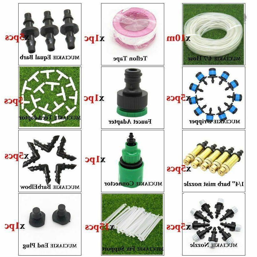Garden Plant Irrigation System Dripper Line Hose Sprinklers