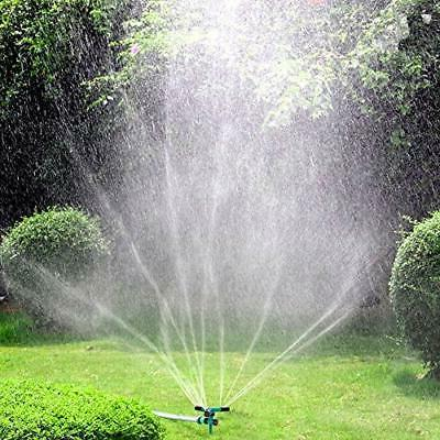 lawn sprinkler automatic 360 rotating garden water