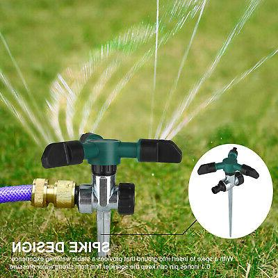 Lawn Sprinkler Automatic Water Irrigation 360° Rotation