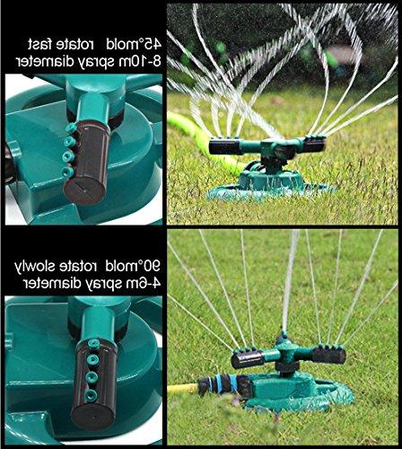 Lawn Automatic Rotating Adjustable Covering Area with Leak 3 Arm Hose