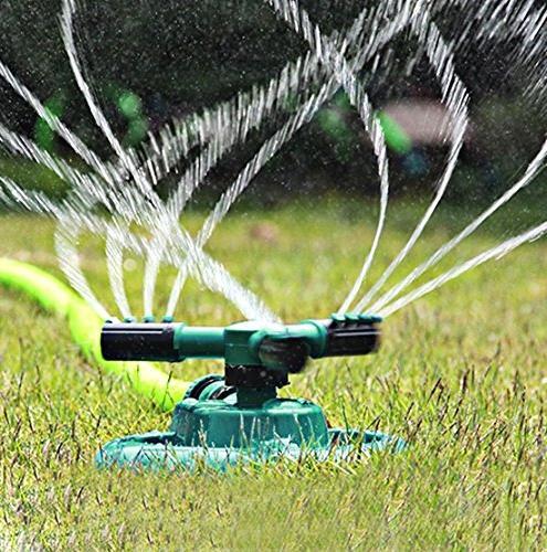 Lawn Rotating Adjustable Garden Sprinklers Irrigation Covering Large Leak Hose