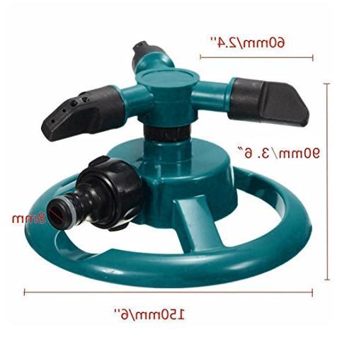 Lawn Sprinkler, WensLTD 360 Rotating Water Sprinklers Lawn System