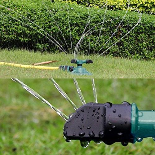 Lawn Sprinkler, 360 Rotating Water System