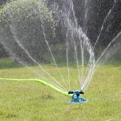 Lawn Sprinkler, WensLTD 360 Rotating Adjustable Garden Water Lawn Irrigation System