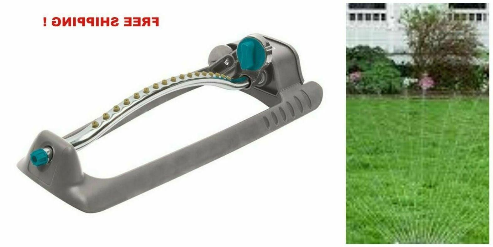 metal adjustable oscillating sled base lawn sprinkler