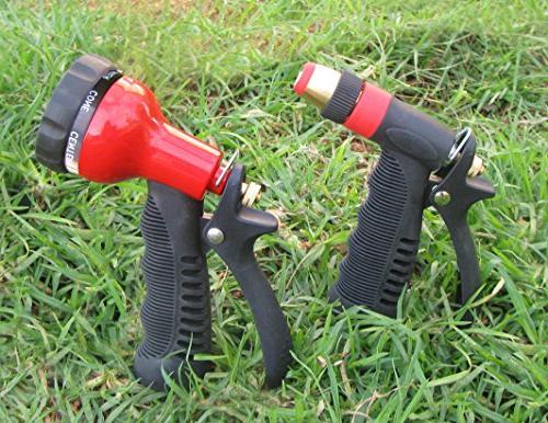 TABOR Hose Nozzle Set, Pressure Water 7-Pattern Adjustable Head, Grip Long