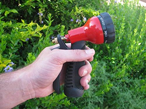 TABOR Hose Nozzle Pressure Water 7-Pattern Head, Grip and Control Long Lasting Materials