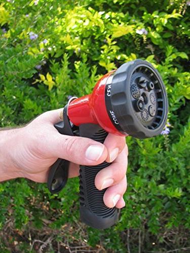 TABOR TOOLS W91 Hose Pressure 7-Pattern Adjustable Grip Control Knob, Duty Long Materials