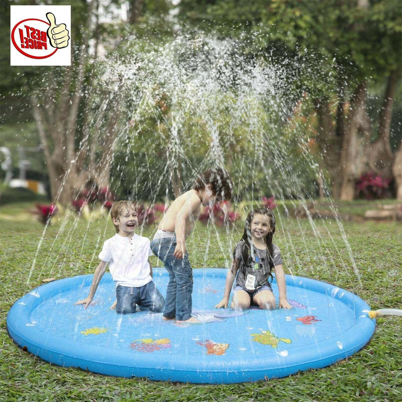 sprinkler pad splash play mat toddler water