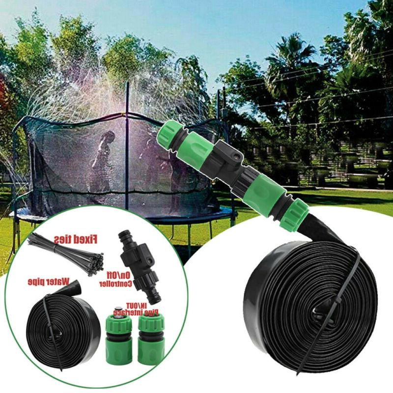 Outdoor Trampoline Water Sprinkler Summer Fun for