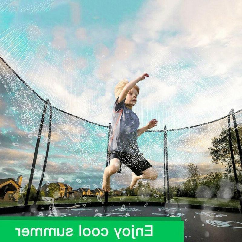 Outdoor Trampoline Water Sprinkler Fun for