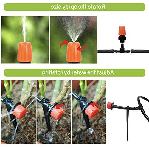 moistenland Plant Watering Kit,50ft Blank Tubing Drip Misting Cooling &Containers