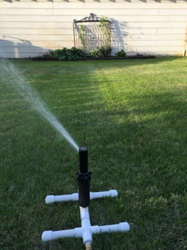 pc sprinkler head on pvc stand includes