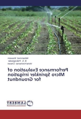 performance evaluation micro sprinkler irrigation groundnut
