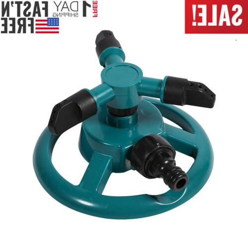 rotating 360 degree sprinkler garden lawn grass