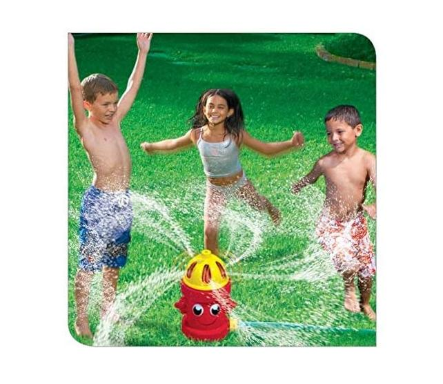 silly spray fire hydrant yard sprinkler