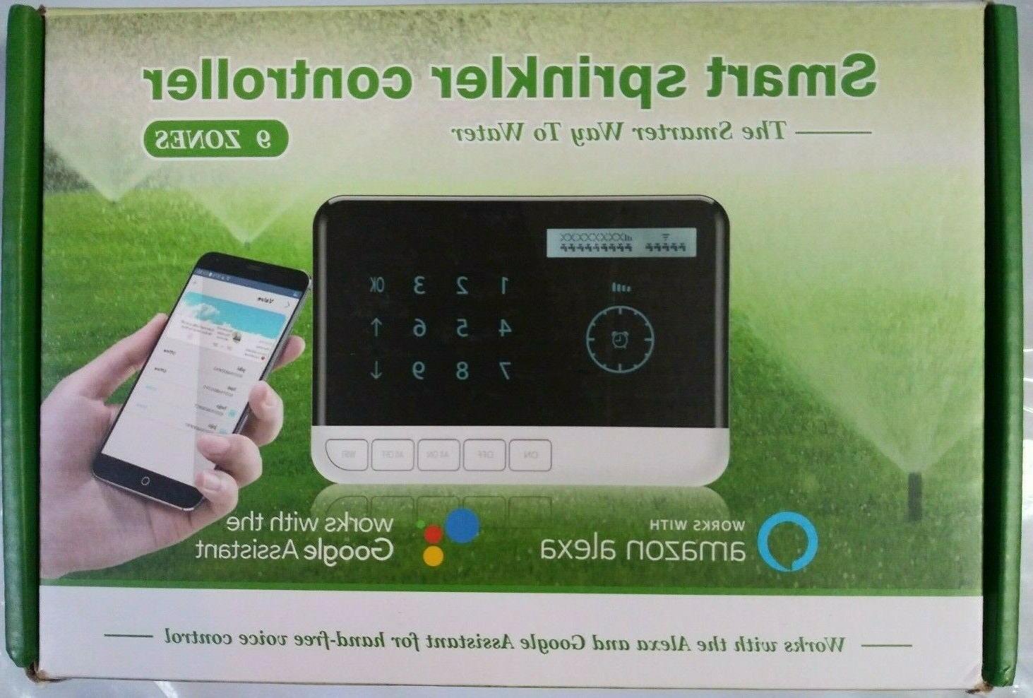 smart sprinkler controller 9 zones with wifi