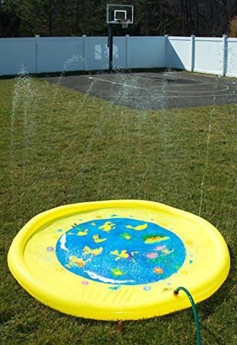 """Splashin'kids 68"""" Splash Mat is for infants toddlers,boys, and - sprinkler"""