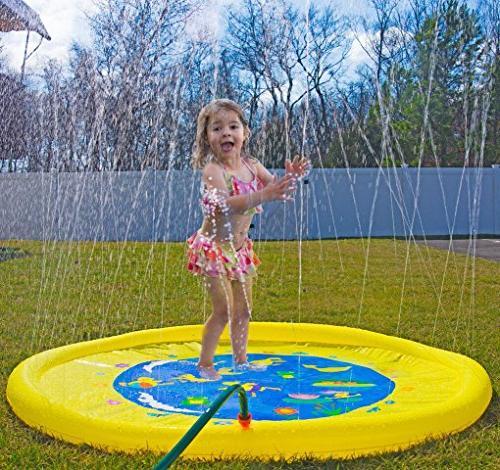 "Splashin'kids 68"" Splash Play is for children toddlers,boys, girls - perfect sprinkler pad"