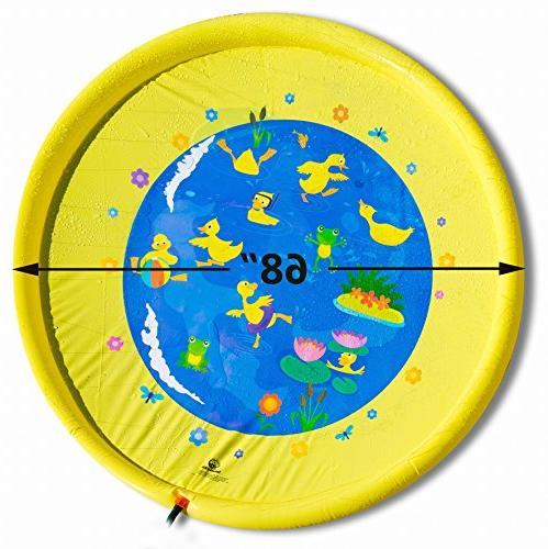 "Splashin'kids 68"" and Splash Play is toddlers,boys, girls and - sprinkler pad"