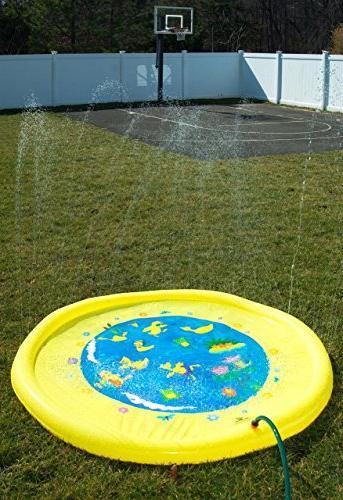"Splashin'kids 68"" Splash Play Mat toy is toddlers,boys, girls - inflatable sprinkler"
