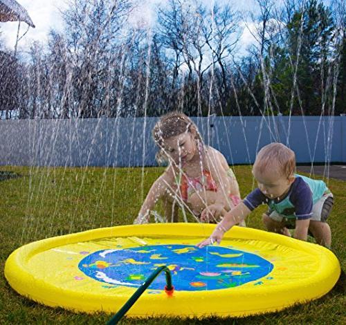 "Splashin'kids 68"" and Splash is for infants toddlers,boys, - inflatable sprinkler pad"