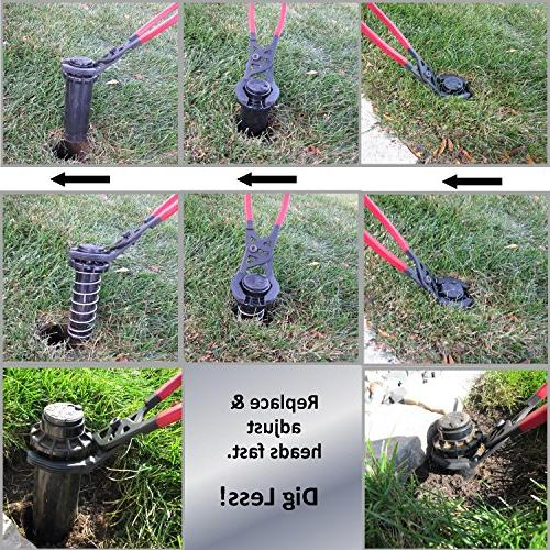KEYFIT Sprinkler The Fastest Versatile Way to Remove, Replace & Adjust Sprinkler w/no no Mess. on Brands Spray Top valves