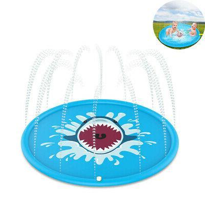 sprinkler splash water pad play mat baby