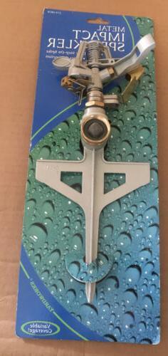 Yardworks Sprinklers Heavy Duty Impact Sprinkler Head & Step