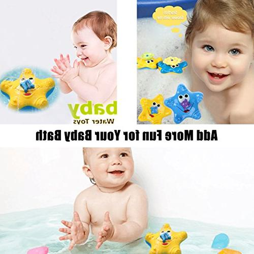 ABIsedrin Baby Toys,Starfish Bath for Boys Spray Water Toys Pools and