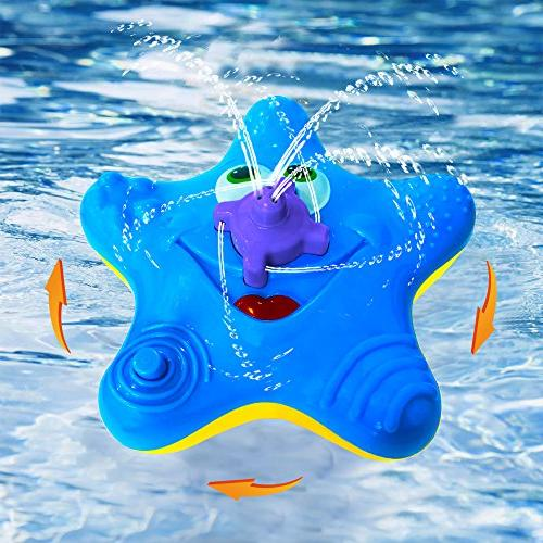 starfish fountain bath toy