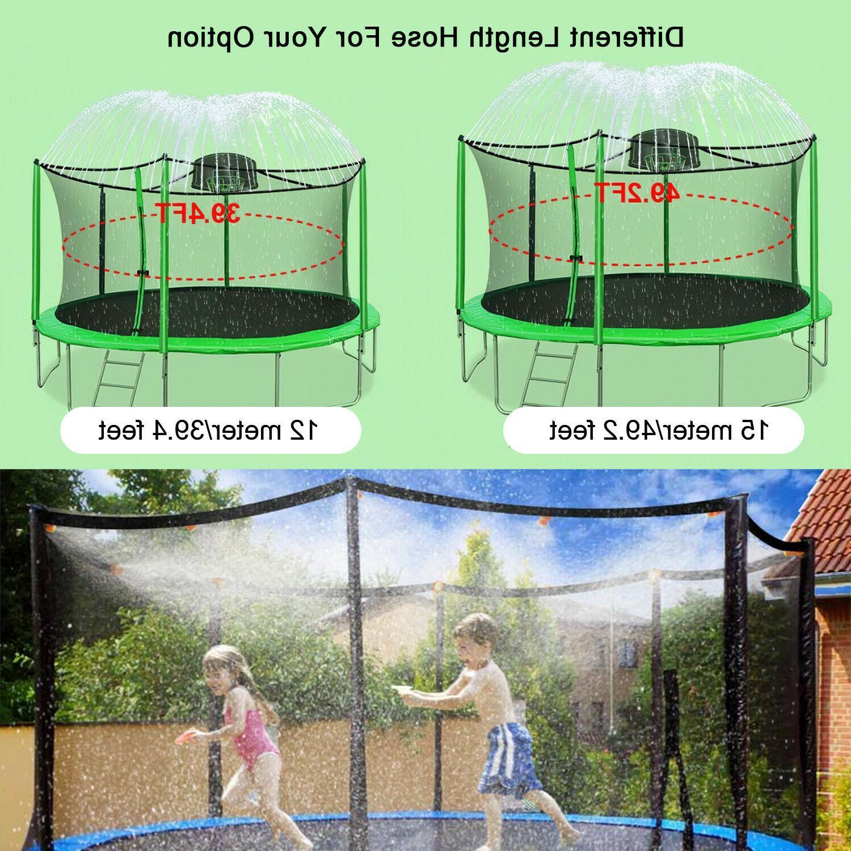 39ft/49ft Trampoline Kids Summer Outdoor Water Toy Fun Waterpark Spray