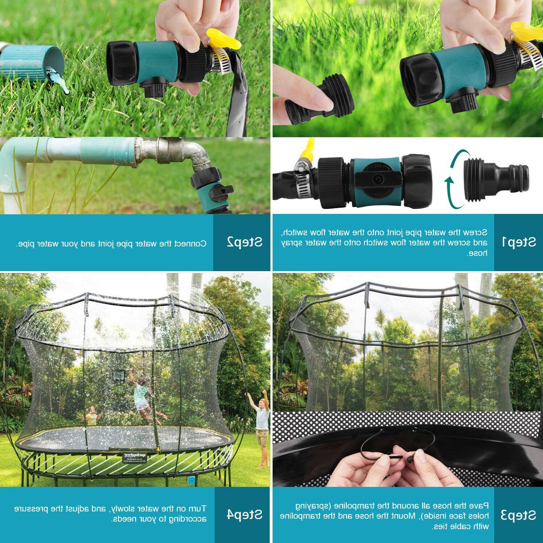 Trampoline Sprinklers Trampoline For Fun