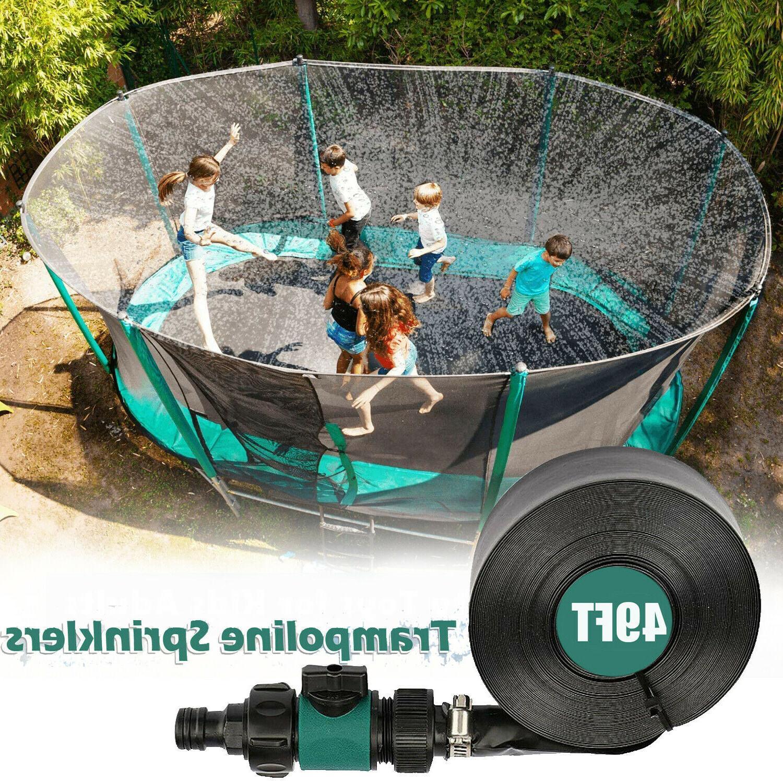 trampoline sprinkler water spray kids outdoor summer