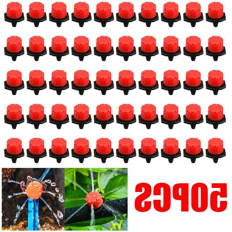 us 50pcs adjustable micro plants irrigation watering