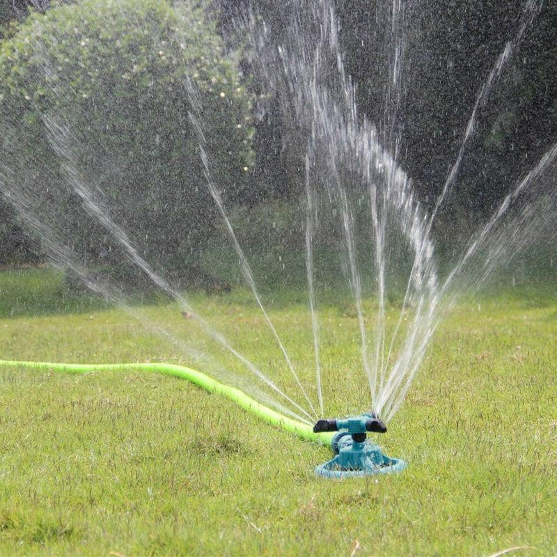 360o rotating lawn sprinkler automatic garden water