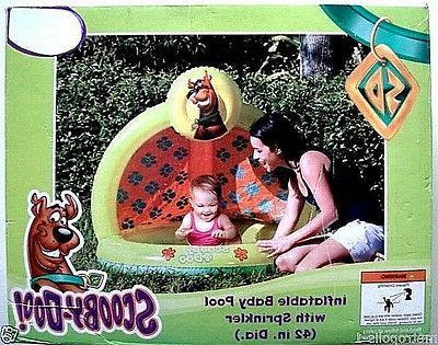 warner scooby doo inflatable baby toddler pool