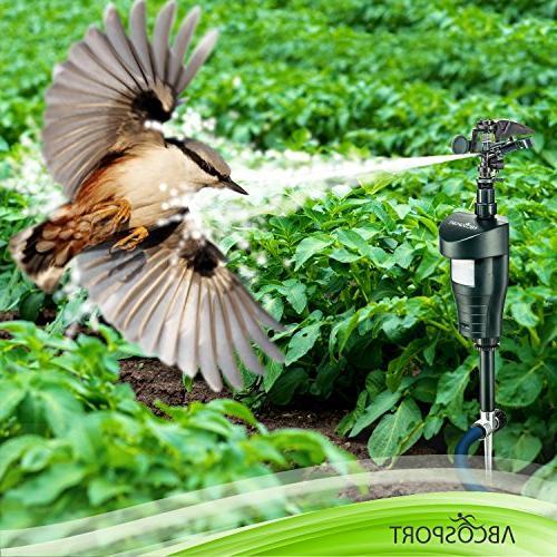 Activated Sensor Sprinkler Animal – Ultra Humane Way Away Wild Animals – Cats, Dogs, Birds, Squirrels, Etc. – Effective Detector Sprinkler Metal